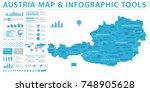 austria map   info graphic... | Shutterstock .eps vector #748905628