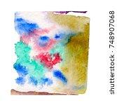 watercolor blotch | Shutterstock . vector #748907068