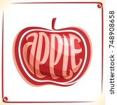 vector logo for red apple ... | Shutterstock .eps vector #748908658