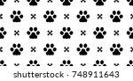 dog paw puppy cat paw kitten... | Shutterstock .eps vector #748911643