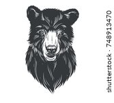 head bear hand draw | Shutterstock .eps vector #748913470