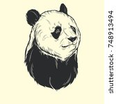 head panda hand draw | Shutterstock .eps vector #748913494
