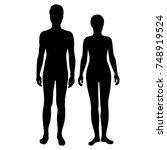 vector silhouettes of man and...   Shutterstock .eps vector #748919524