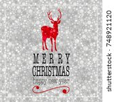 merry christmas and happy new... | Shutterstock .eps vector #748921120
