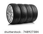 winter car tires. group of... | Shutterstock . vector #748927384