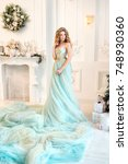 beautiful blonde girl in luxury ...   Shutterstock . vector #748930360