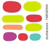 brush strokes set backgrounds.... | Shutterstock .eps vector #748930504
