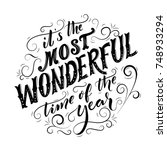 it's the most wonderful time of ... | Shutterstock .eps vector #748933294