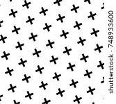 crosses and crosses | Shutterstock .eps vector #748933600