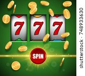 lucky slot machine background | Shutterstock .eps vector #748933630