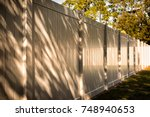 solid privacy vinyl fence | Shutterstock . vector #748940653