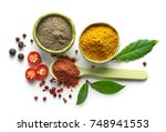 various spices isolated on... | Shutterstock . vector #748941553
