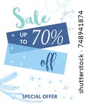 winter social media sale... | Shutterstock .eps vector #748941874