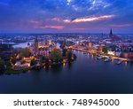 castle of schwerin in... | Shutterstock . vector #748945000