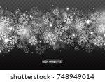 vector magic falling snow... | Shutterstock .eps vector #748949014