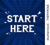 start here greeting card... | Shutterstock .eps vector #748949068