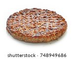 grilled burger meat isolated on ... | Shutterstock . vector #748949686