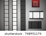 set of vector film strip... | Shutterstock .eps vector #748951174