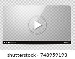 design of the video player.... | Shutterstock . vector #748959193