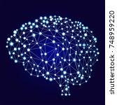 artificial neural networks... | Shutterstock . vector #748959220