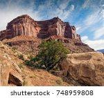 scenery at shafer trail at... | Shutterstock . vector #748959808