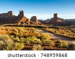 sunrise at the valley of the... | Shutterstock . vector #748959868
