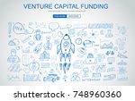venture capital funding concept ... | Shutterstock .eps vector #748960360