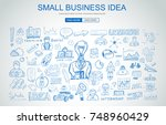 small business idea concept... | Shutterstock .eps vector #748960429