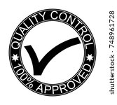 quality control. stamp. sticker ... | Shutterstock .eps vector #748961728