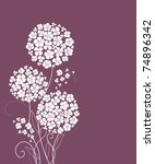 cute card with flowers | Shutterstock .eps vector #74896342