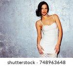 beauty  fashion. haircare.... | Shutterstock . vector #748963648