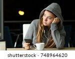 Sad Pensive Teenager Listening...