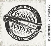 vintage logo graphic design ... | Shutterstock .eps vector #748965610