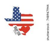 pray for texas vector...   Shutterstock .eps vector #748967944