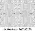 seamless line pattern vector.... | Shutterstock .eps vector #748968220