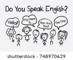 do you speak english typography ... | Shutterstock .eps vector #748970629