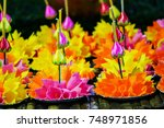 Colorful Krathong Made From Ice ...