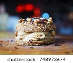 paris brest  a classic french... | Shutterstock . vector #748973674