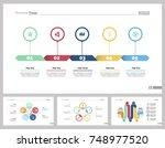 four training slide templates... | Shutterstock .eps vector #748977520