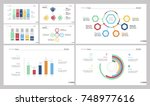 seven analysis slide templates... | Shutterstock .eps vector #748977616