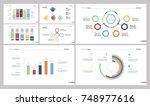 seven analysis slide templates...   Shutterstock .eps vector #748977616