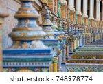 seville  spain. ceramic tiles... | Shutterstock . vector #748978774