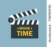 cinema and movie time concept.... | Shutterstock .eps vector #748985950