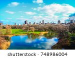 scenic view of central park in... | Shutterstock . vector #748986004