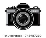 classic photographic camera  ... | Shutterstock .eps vector #748987210