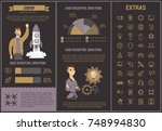 startup infographic template ... | Shutterstock .eps vector #748994830