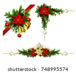 christmas elements for your... | Shutterstock .eps vector #748995574