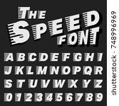 alphabet font template. set of... | Shutterstock .eps vector #748996969