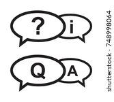 question and answers icon ... | Shutterstock .eps vector #748998064