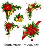 christmas elements for your... | Shutterstock .eps vector #749002429